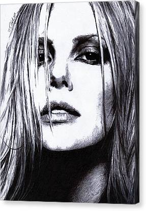 Charlize Theron Canvas Print by Justin Clark