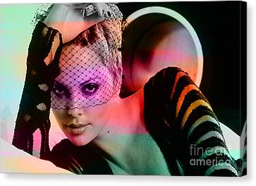 Charlize Theron  Canvas Print by Marvin Blaine
