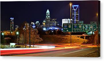 Charlotte At Night Canvas Print by Frozen in Time Fine Art Photography
