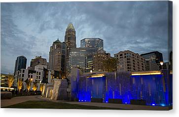 Canvas Print featuring the photograph Charlotte City Lights by Serge Skiba