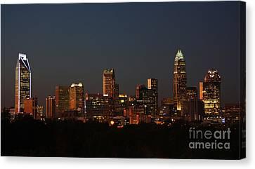 Charlotte City Skyline At Sunset Canvas Print