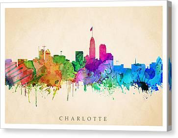Charlotte Cityscape Canvas Print