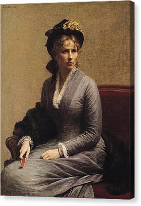 Charlotte Canvas Print - Charlotte Dubourg  by Ignace Henri Jean Fantin-Latour