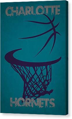 Charlotte Canvas Print - Charlotte Hornets Hoop by Joe Hamilton