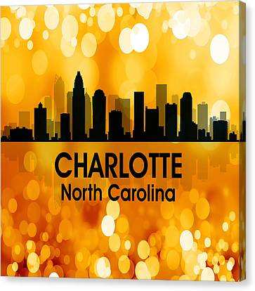 Charlotte Nc 3 Squared Canvas Print by Angelina Vick