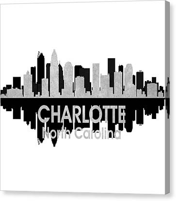 Charlotte Nc 4 Squared Canvas Print by Angelina Vick