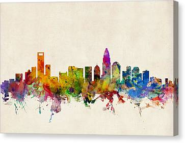 Charlotte North Carolina Skyline Canvas Print by Michael Tompsett