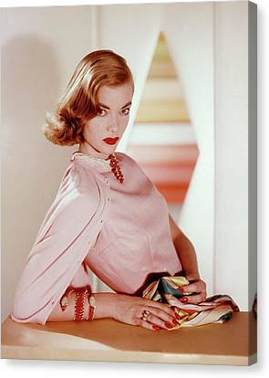 Charlotte Payne Wearing Cartier Jewelry Canvas Print
