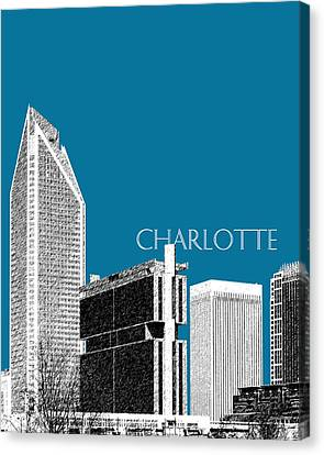 Charlotte Skyline 1 - Steel Canvas Print by DB Artist