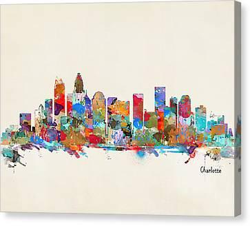 Charlotte Skyline North Carolina Canvas Print by Bri B