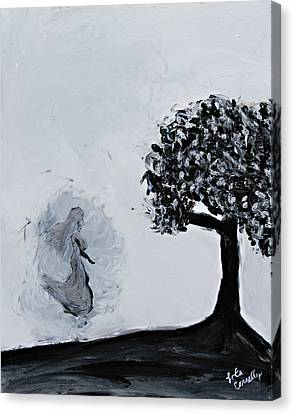 Canvas Print featuring the painting Charlotte's Grave by Lola Connelly