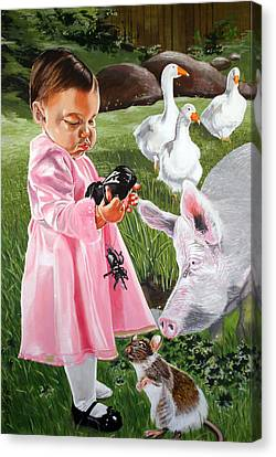 Charlotte's Web Canvas Print by Belle Massey