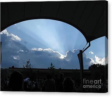 Charlottesville Pavilion July 2008 Canvas Print by Ausra Huntington nee Paulauskaite