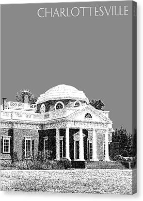 Charlottesville Skyline Monticello - Pewter Canvas Print by DB Artist