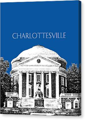 Charlottesville Va Skyline University Of Virginia - Royal Blue Canvas Print by DB Artist