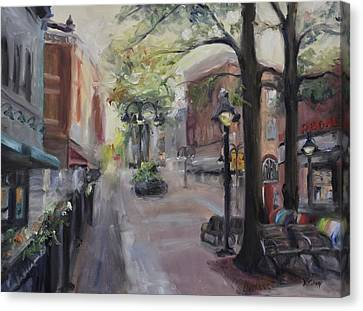 Charlottesville's Historic Downtown Mall Canvas Print
