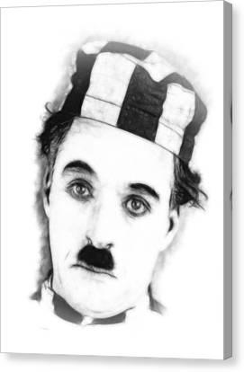 Charly Chaplin Canvas Print