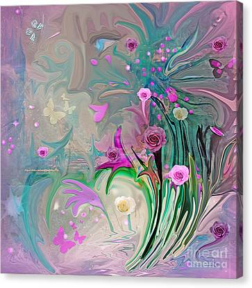 Charm Of The Garden Canvas Print