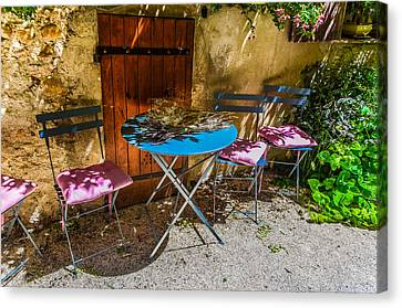 Canvas Print featuring the photograph On The Patio by Dany Lison