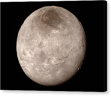 Charon Canvas Print by Nasa/johns Hopkins University Applied Physics Laboratory/southwest Research Institute