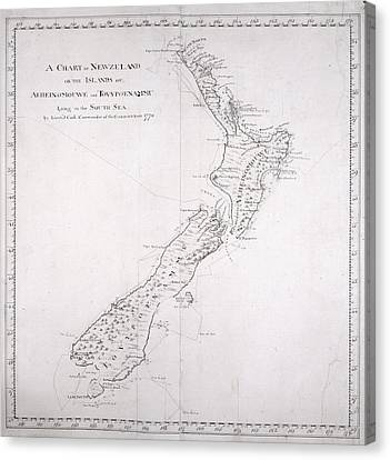 Chart Of New Zealand Canvas Print by British Library