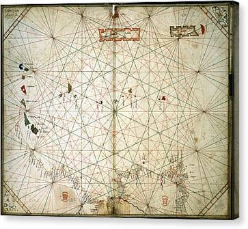 Chart Of The Eastern Atlantic Canvas Print by British Library
