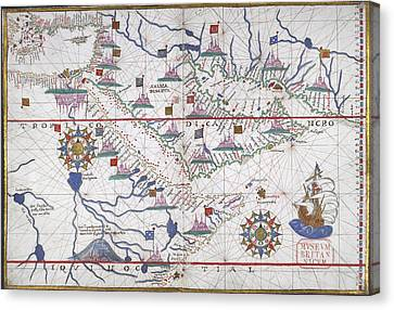 Chart Of The Persian Gulf Canvas Print