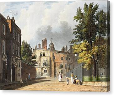 Charter House From The Square Canvas Print by William Westall