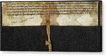 Charter Of Magnus Canvas Print