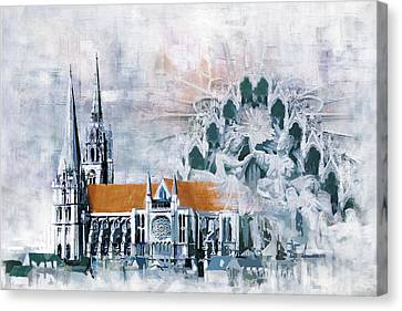 Chartres Cathedral Canvas Print by Catf