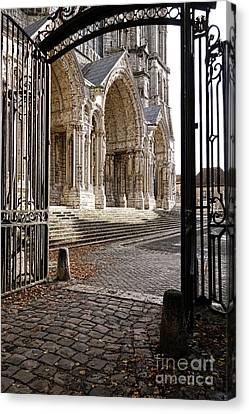 Chartres Cathedral North Transept Canvas Print by Olivier Le Queinec