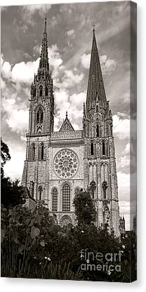 Chartres Cathedral Canvas Print by Olivier Le Queinec