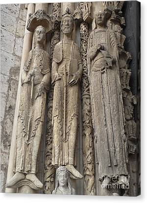 Canvas Print featuring the photograph Chartres Cathedral Saints by Deborah Smolinske
