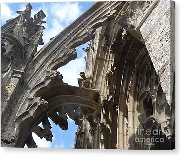 Canvas Print featuring the photograph Chartres Flying Buttress by Deborah Smolinske