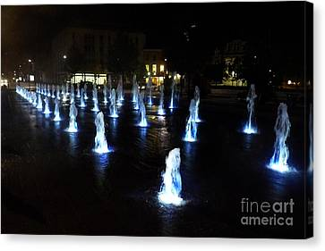 Canvas Print featuring the photograph Chartres Street Fountains by Deborah Smolinske