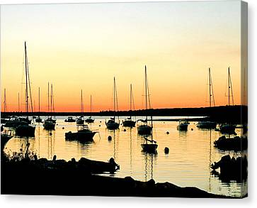 Chartroom Sunset Canvas Print
