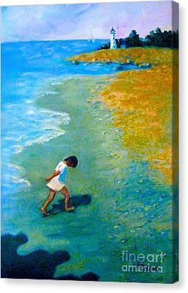 Chasing Shadows - 4 Canvas Print by Gretchen Allen