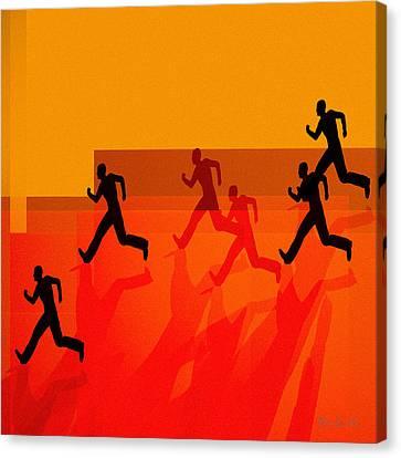 Chasing Shadows Canvas Print by Bob Orsillo