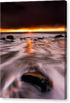 Chasing The Sunset Canvas Print