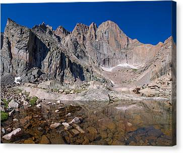 Chasm Lake Canvas Print by Aaron Spong