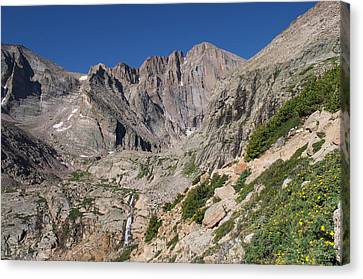 Nederland Canvas Print - Chasm Lake Junction And Longs Peak by Aaron Spong