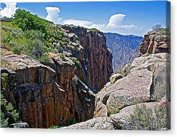 Chasm Near Beginning Of Warner Point Trail In Black Canyon Of The Gunnison National Park-colorado Canvas Print