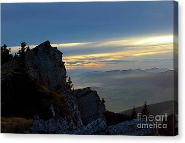 Canvas Print featuring the photograph Chasseral Overlook by Charles Lupica