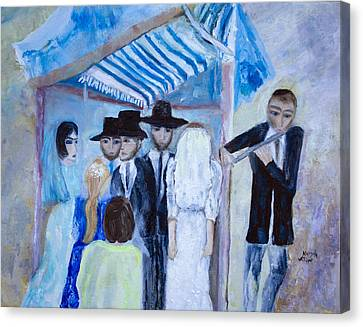 Chassidic Wedding Canvas Print by Aleezah Selinger