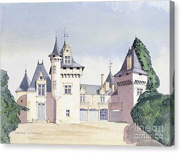 Chateau A Fontaine Canvas Print