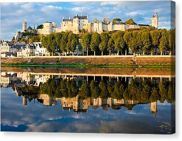 Chateau Above And Below Chinon  Canvas Print by Kirk Strickland
