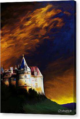 Chateau Au Crepuscule Canvas Print by Chris Knights
