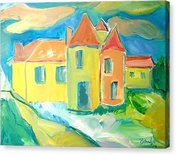 Chateau Canvas Print by Brenda Ruark