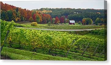 Chateau Chantal In Autumn 2014 Canvas Print
