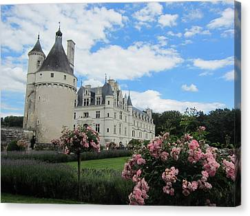 Canvas Print featuring the photograph Chateau Chenonceau by Pema Hou